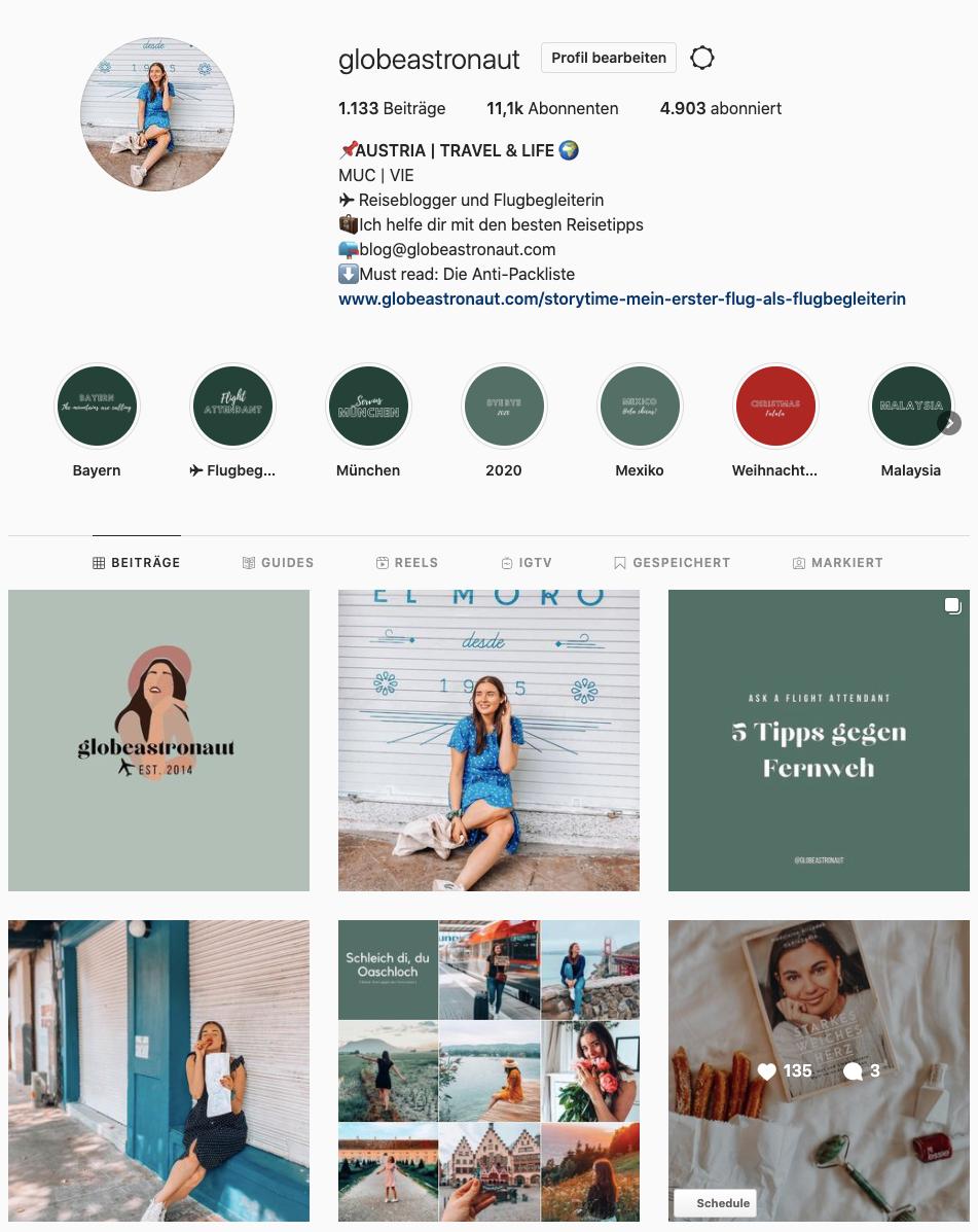 Globeastronaut Social Media Instagram